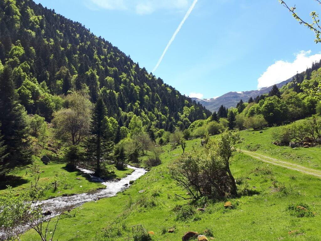 Départ randonnée au départ de l'auberge du Chiroulet