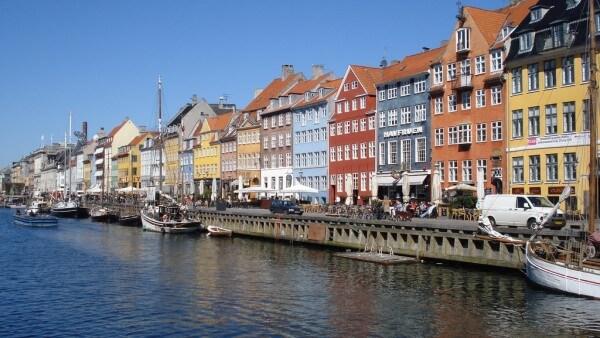 Quais au centre ville de Copenhague