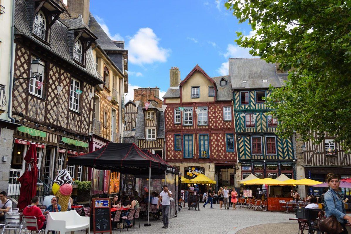 Place Sainte-Anne à Rennes (Bretagne)