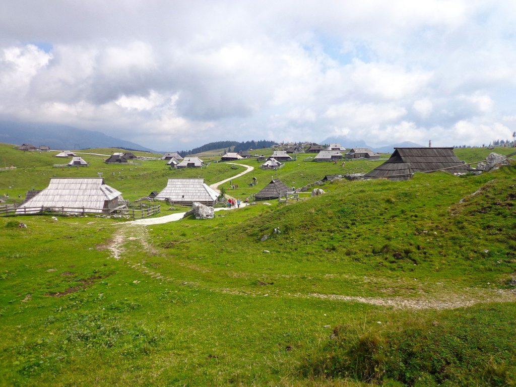 Alpages sur le plateau de Velika Planina.