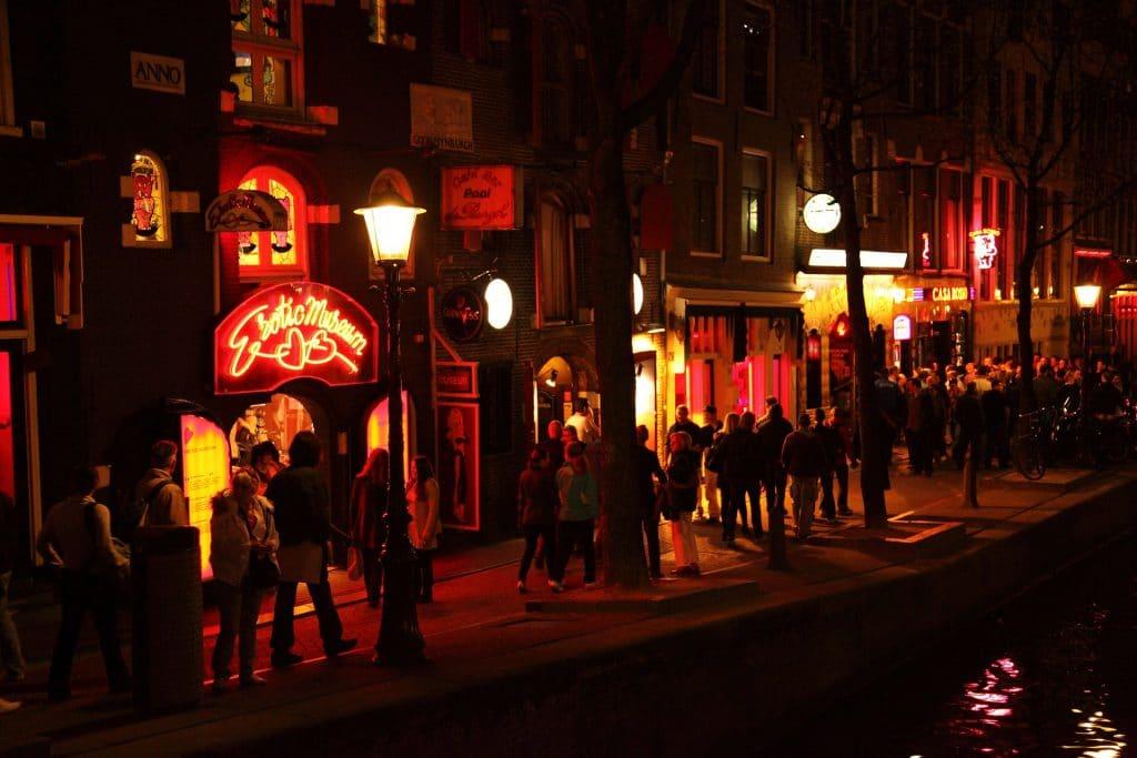 Quartier de la Red Light District à Amsterdam