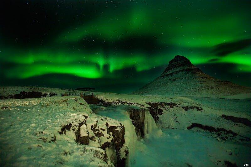 Aurore Borealis en Islande - Photo : Victor Montol