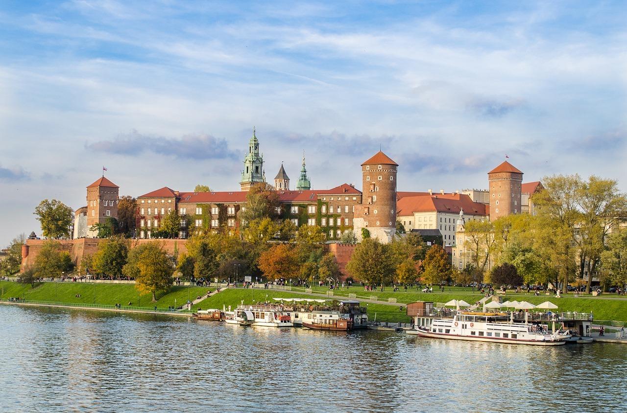 La Vistule et le château de Wawel à Cracovie