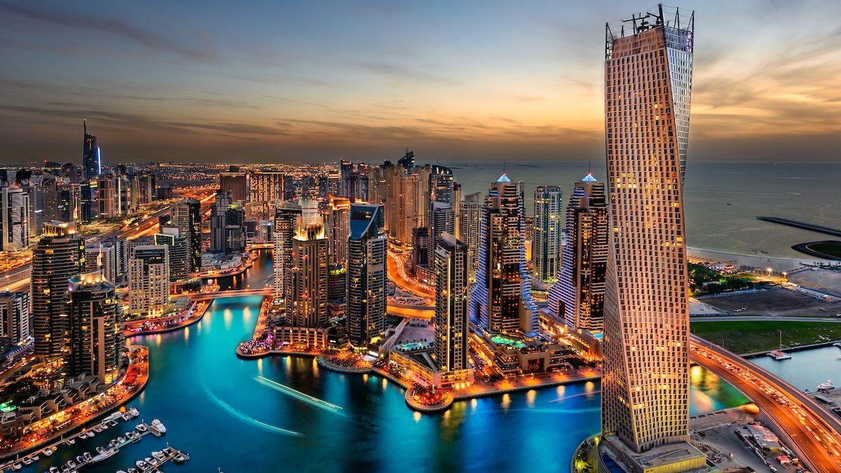 Vue panoramique sur la marina de Dubaï
