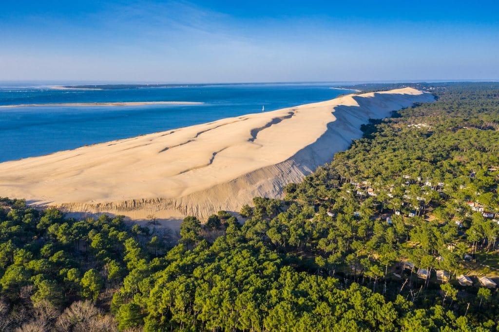 La Dune du Pilat vue du ciel