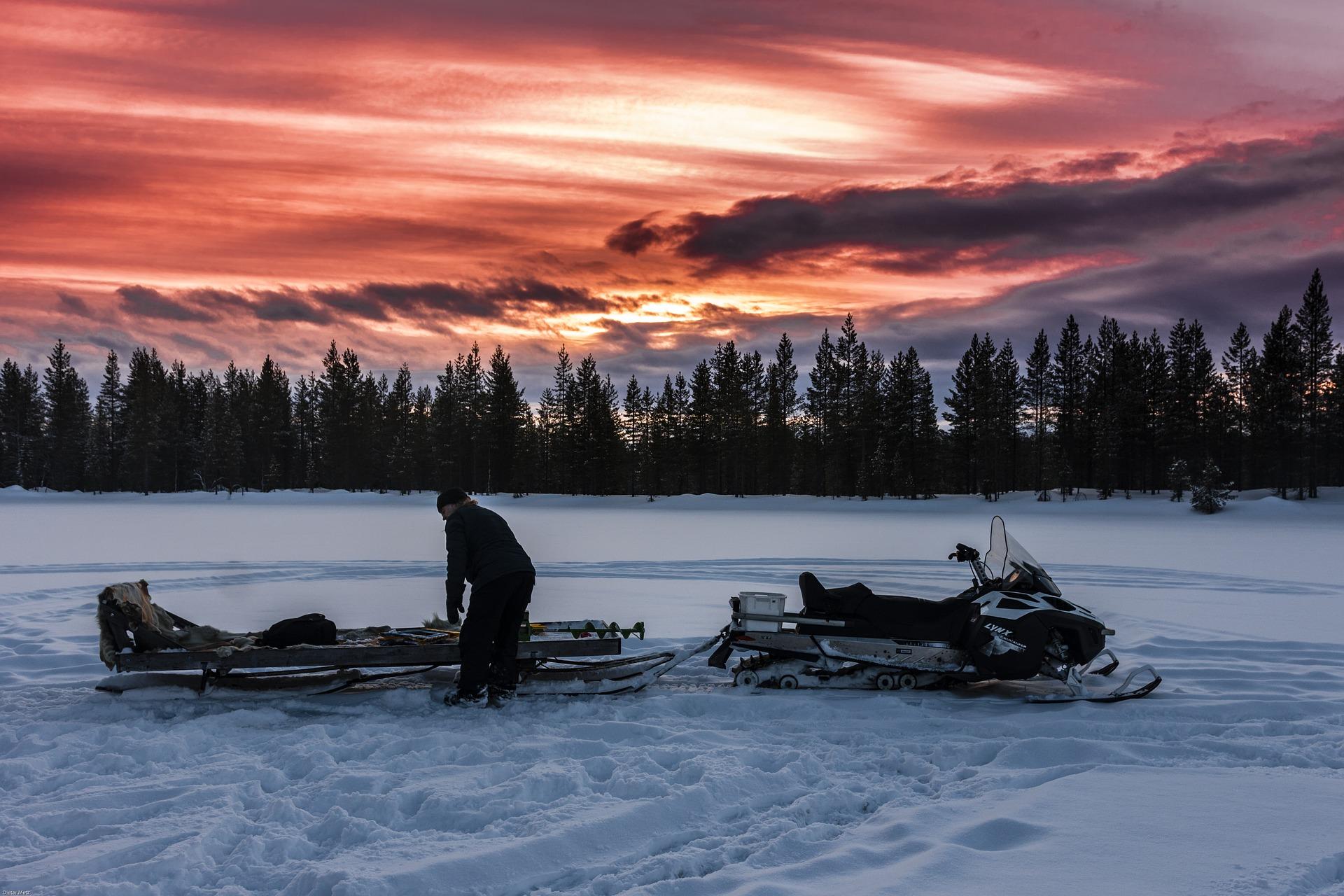 Laponie sauvage en hiver.