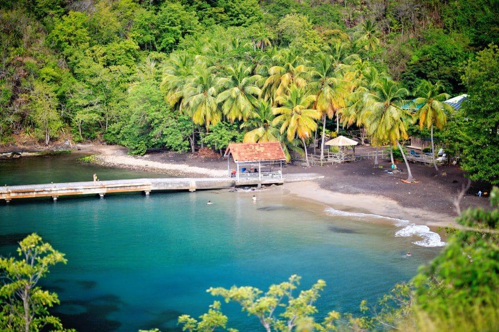 L'anse noire, une des plages mythiques de Martinique
