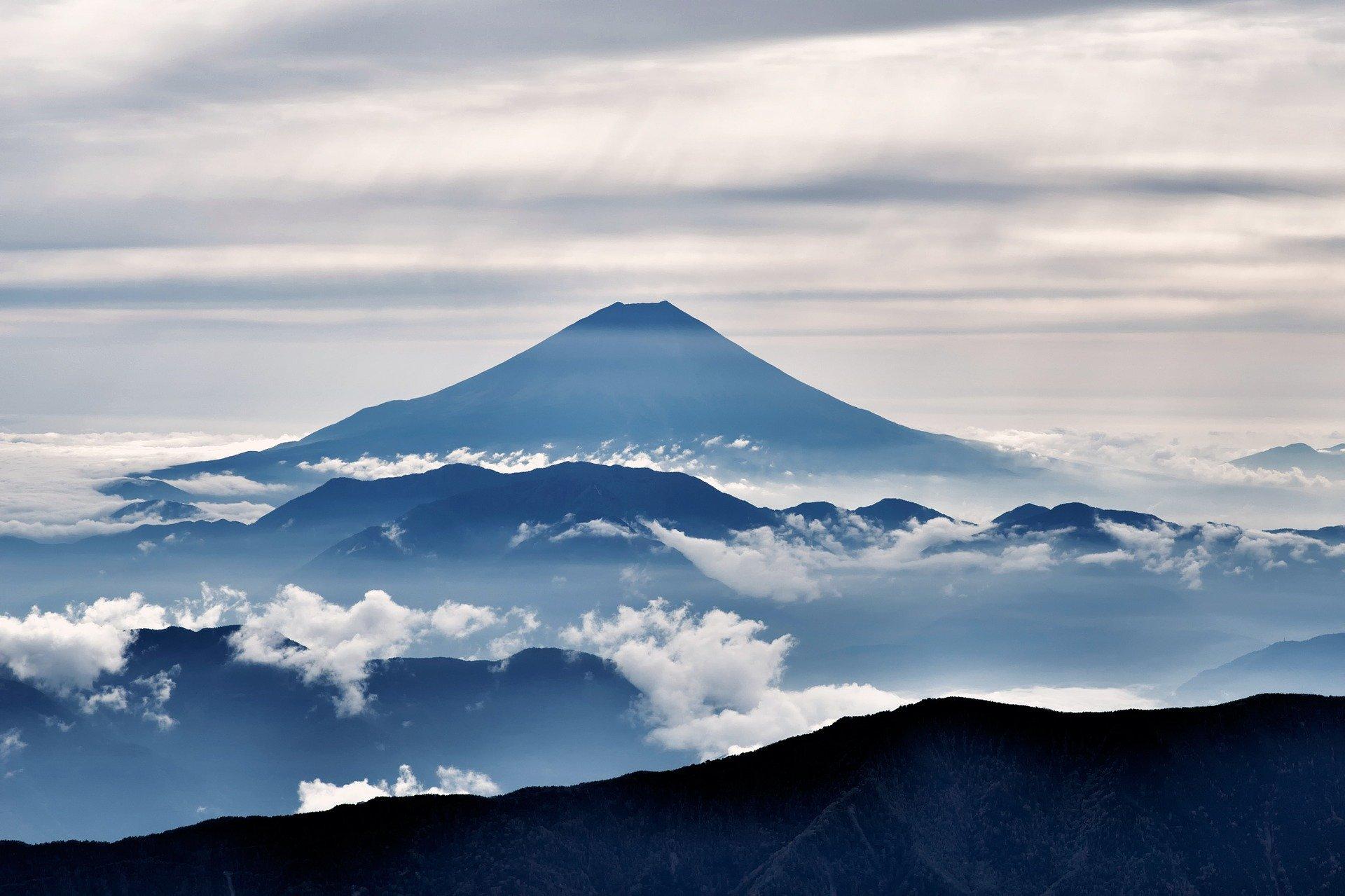 Brume autour du Mont Fuji.
