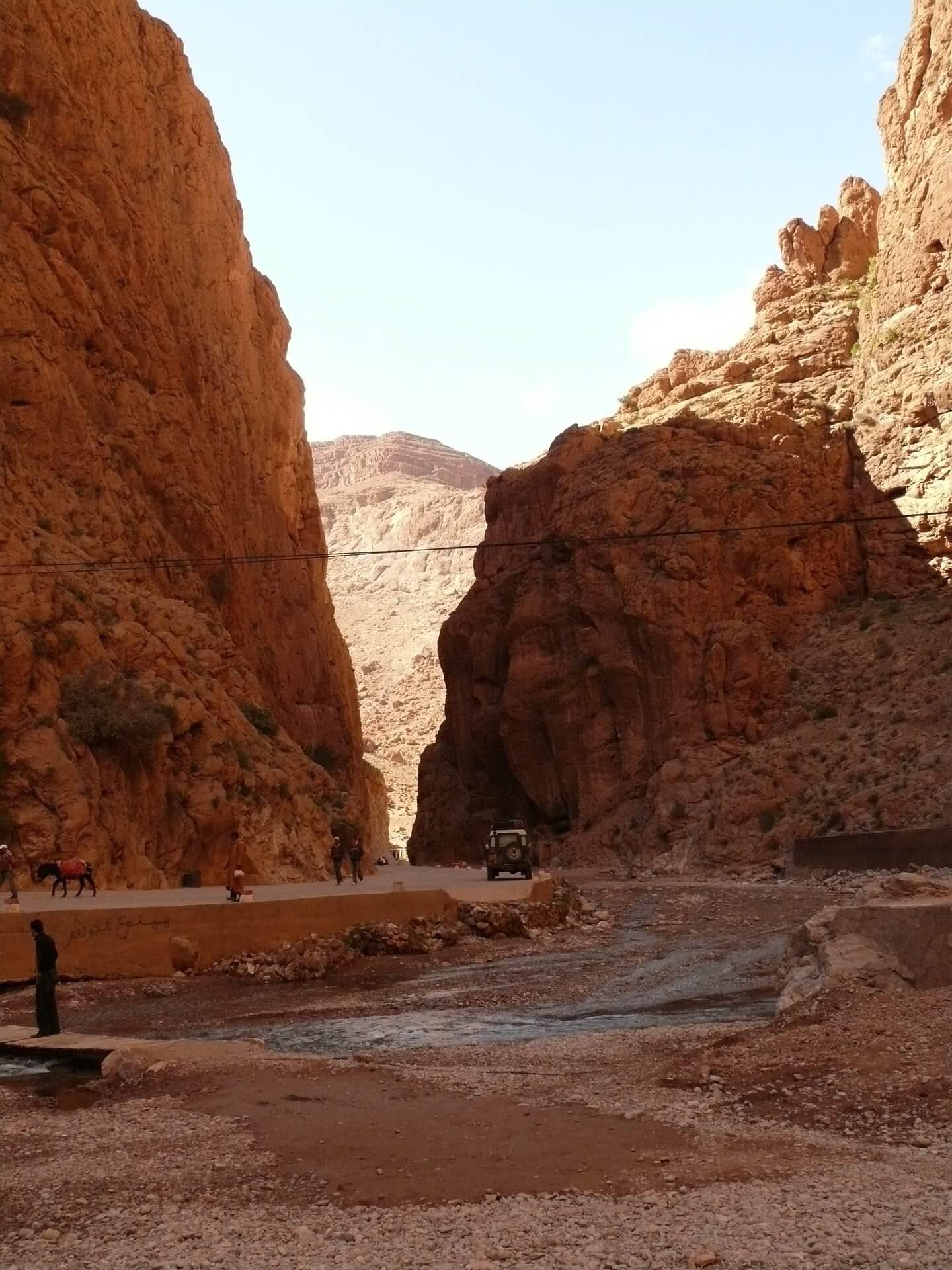 Gorges du Todra dans le sud marocain